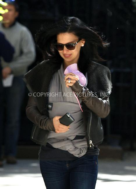 WWW.ACEPIXS.COM<br /> <br /> September 23 2013, New York City<br /> <br /> Hilaria Baldwin takes her daughter Carmen to the doctor on September 23 2013 in New York City<br /> <br /> By Line: Zelig Shaul/ACE Pictures<br /> <br /> <br /> ACE Pictures, Inc.<br /> tel: 646 769 0430<br /> Email: info@acepixs.com<br /> www.acepixs.com