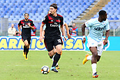 September 10th 2017, Olimpic Stadium, Rome, Italy; Serie A football league, Lazio versus AC Milan;   Riccardo Montolivo breaks into attack as Jacinto Quissanga keeps pace
