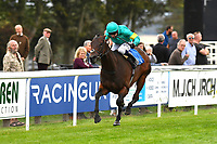 Winner of The European Bloodstock News EBF 'Lochsong' Fillies' Handicap Poets Vanity ridden by Oisin Murphy and trained by Andrew Balding during the Bathwick Tyres & EBF Race Day at Salisbury Racecourse on 6th September 2018
