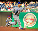 21 June 2010: Kansas City Royals pitcher Bruce Chen on the mound against the Washington Nationals at Nationals Park in Washington, DC. The Nationals edged out the Royals 2-1 to take the first game of their 3-game interleague series and snap a 6-game losing streak. Mandatory Credit: Ed Wolfstein Photo