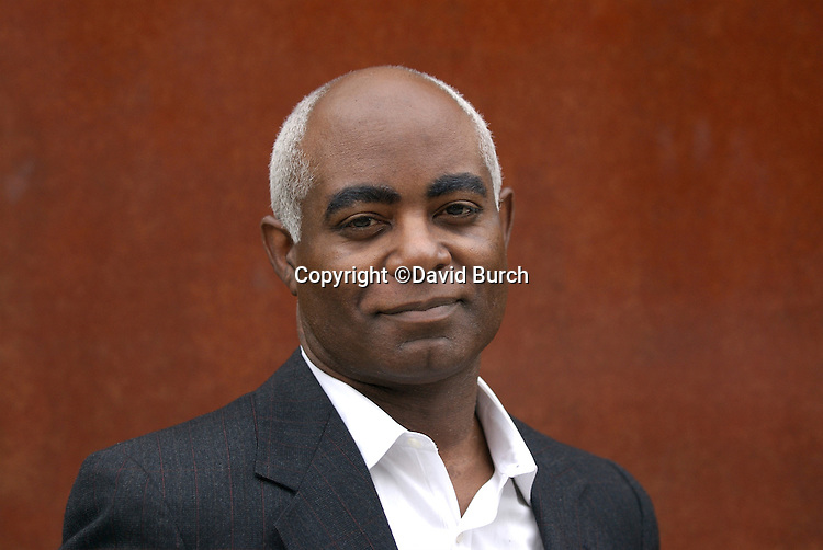 African American man in business suit without tie