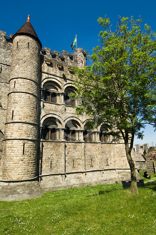 Belgium, Ghent, Gravensteen (Castle of the Counts)