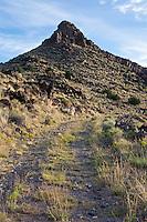 Pre-1937 path of Route 66 on the La Bajada Grade south of Santa Fe, New Mexico