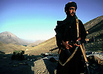 A Taliban soldier on July 25, 1996 outside Kabul, Afghanistan. They took over most of the country in 1996, and have enforced strict muslim sharia law in the country. Women are not allowed to work or go to school cinemas and most sports have been banned..(Photo: Per-Anders Pettersson/ Liaison Agency)