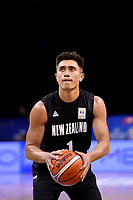 New Zealand Tall Blacks&rsquo; Reuben Te Rangi in action during the FIBA World Cup Basketball Qualifier - NZ Tall Blacks v Syria at TSB Bank Arena, Wellington, New Zealand on Sunday 2 2018. <br /> Photo by Masanori Udagawa. <br /> www.photowellington.photoshelter.com