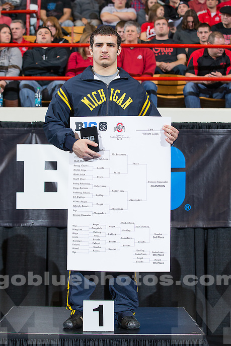 The Big Ten Wrestling Championship session 3 and finals in Columbus, Ohio on March 8, 2015.