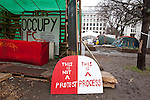 Bank of  Ideas, the Occupy protest. Sun street, London