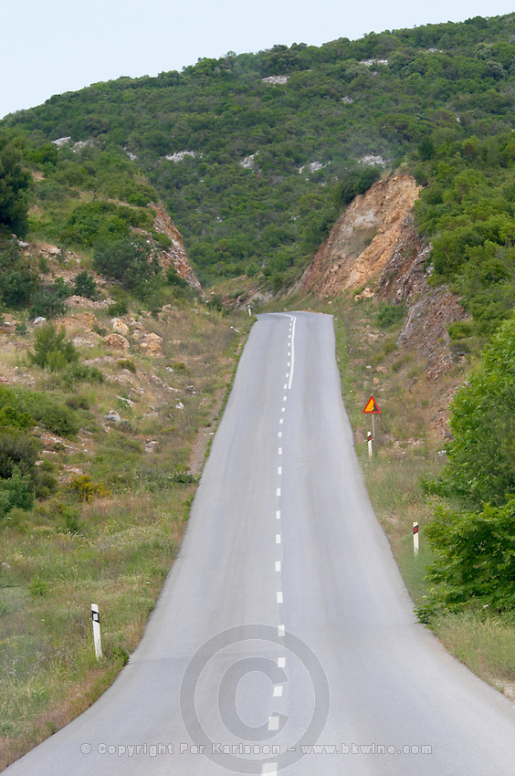 Road in Halkidiki. Greece.
