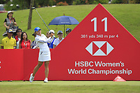 Jin Young Ko (KOR) in action on the 11th during Round 4 of the HSBC Womens Champions 2018 at Sentosa Golf Club on the Sunday 4th March 2018.<br /> Picture:  Thos Caffrey / www.golffile.ie<br /> <br /> All photo usage must carry mandatory copyright credit (&copy; Golffile | Thos Caffrey)