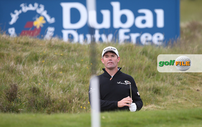Padraig Harrington (IRL) in the bunker on the 17th during Round Three of the 2015 Dubai Duty Free Irish Open Hosted by The Rory Foundation at Royal County Down Golf Club, Newcastle County Down, Northern Ireland. 30/05/2015. Picture David Lloyd | www.golffile.ie