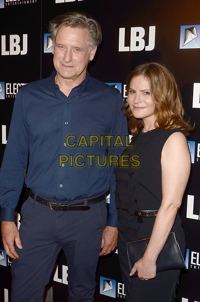 LOS ANGELES, CA - OCTOBER 24: Bill Pullman and Jennifer Jason Leigh at the premiere of Electric Entertainment's 'LBJ' at the Arclight Theatre on October 24, 2017 in Los Angeles, California. <br /> CAP/MPI/DE<br /> &copy;DE/MPI/Capital Pictures