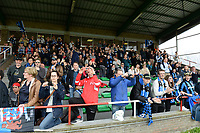 20180414 - AALTER , BELGIUM : Brugge's fans and supporters pictured during the 21st matchday in the 2e Nationale Women's league , a womensoccer game between Club Brugge Dames and GFA Sinaai , in Aalter , saturday 15 th April 2018 . PHOTO SPORTPIX.BE | DAVID CATRY