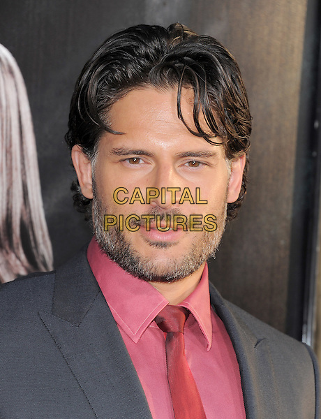 Joe Manganiello.The HBO Premiere of the 4th Season of True Blood held at The Arclight Cinerama Dome in Hollywood, California, USA..June 21st, 2011.headshot portrait black red pink tie stubble facial hair .CAP/RKE/DVS.©DVS/RockinExposures/Capital Pictures.