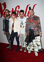 CENTURY CITY, CA - OCTOBER 03: Jack Lawless, JinJoo Lee, Joe Jonas, and Cole Whittle of music group DNCE, at Westfield Century City Reopening Celebration at Westfield Century City Mall, California on October 03, 2017. <br /> CAP/MPI/FS<br /> &copy;FS/MPI/Capital Pictures