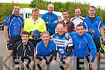 BIKE TIME: The member's of the Cycling Narries, Strand Road, Tralee at the charity cycle in aid of Kerry Mountain Rescue and Kerry Hospice at Killarney Fire Station on Saturday front l-r: John O'Connor, Mike griffin, Tom O'Shea and Barry O'Shea. Back l-r: Peter Horan, Norman Foley, Mossie Kelly, Kieran Griffin, Brendan Carney and Joe Griffin.