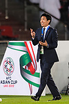 Japan Head Coach Hajime Moriyasu reacts during the AFC Asian Cup UAE 2019 Group F match between Oman (OMA) and Japan (JPN) at Zayed Sports City Stadium on 13 January 2019 in Abu Dhabi, United Arab Emirates. Photo by Marcio Rodrigo Machado / Power Sport Images