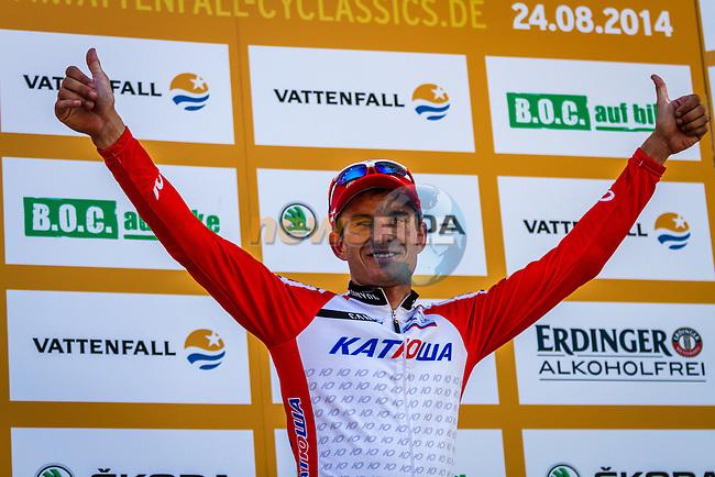 Alexander Kristoff (NOR) of Team Katusha wins Vattenfall Cyclassics, Hamburg, Germany, 24 August 2014, Photo by Thomas van Bracht