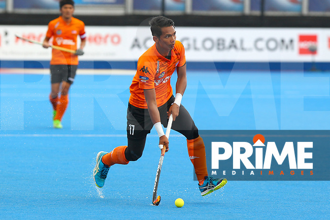Malaysia's Razir Rahim during the Hockey World League Semi-Final match between Argentina and Malaysia at the Olympic Park, London, England on 24 June 2017. Photo by Steve McCarthy.