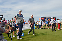 Marc Leishman (AUS) and Andrew Wise (USA) head down 8 during round 4 of the AT&T Byron Nelson, Trinity Forest Golf Club, at Dallas, Texas, USA. 5/20/2018.<br /> Picture: Golffile | Ken Murray<br /> <br /> All photo usage must carry mandatory copyright credit (© Golffile | Ken Murray)