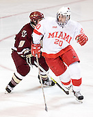 Nathan Gerbe, Chris Michael - The Boston College Eagles defeated the Miami University Redhawks 5-0 in their Northeast Regional Semi-Final matchup on Friday, March 24, 2006, at the DCU Center in Worcester, MA.