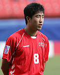 06 July 2007: North Korea's Chol Myong Ri, pregame. Argentina's Under-20 Men's National Team defeated North Korea's Under-20 Men's National Team 1-0 in a Group E opening round match at Frank Clair Stadium in Ottawa, Ontario, Canada during the FIFA U-20 World Cup Canada 2007 tournament.