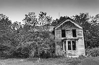 Old abandoned two-story house in Kansas