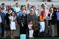 Connections Executiveprivilege winner of the Del Mar Debutante at Del Mar Race Course in Del Mar, California on September 1, 2012.