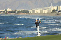 Fabrizio Zanotti (PAR) during the final round of the Oman Open, Al Mouj Golf, Muscat, Sultanate of Oman. 03/03/2019<br /> Picture: Golffile | Phil Inglis<br /> <br /> <br /> All photo usage must carry mandatory copyright credit (&copy; Golffile | Phil Inglis)