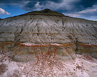 Eroed mounds in the badlands of the North Unit; Theodore Roosevelt National Park, ND