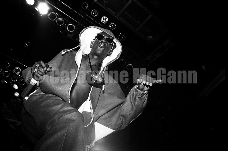 NEW YORK - SEPTEMBER 26:  Flavor Flav  (William Drayton) performs with Public Enemy at the Ritz on September 26, 1991 in New York City, New York.  (Photo by Catherine McGann)Copyright 2010 Catherine McGann