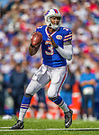 21 September 2014: Buffalo Bills quarterback EJ Manuel looks downfield for a receiver against the San Diego Chargers at Ralph Wilson Stadium in Orchard Park, NY. The Chargers defeated the Bills 22-10 in AFC play. Mandatory Credit: Ed Wolfstein Photo *** RAW (NEF) Image File Available ***