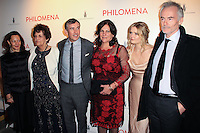 "NEW YORK, NY - NOVEMBER 12: Philomena Lee, Steve Coogan, Jane Lee, Sophie Kennedy Clark, Martin Sixsmith at the New York Premiere Of The Weinstein Company's ""Philomena"" held at Paris Theater on November 12, 2013 in New York City. (Photo by Jeffery Duran/Celebrity Monitor)"