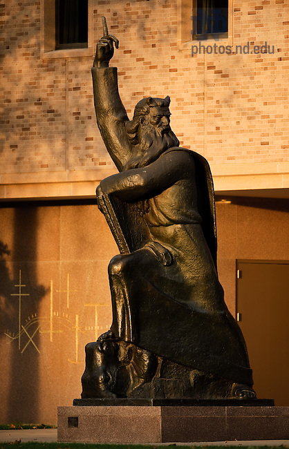 Oct. 25, 2011; Moses statue..Photo by Matt Cashore/University of Notre Dame