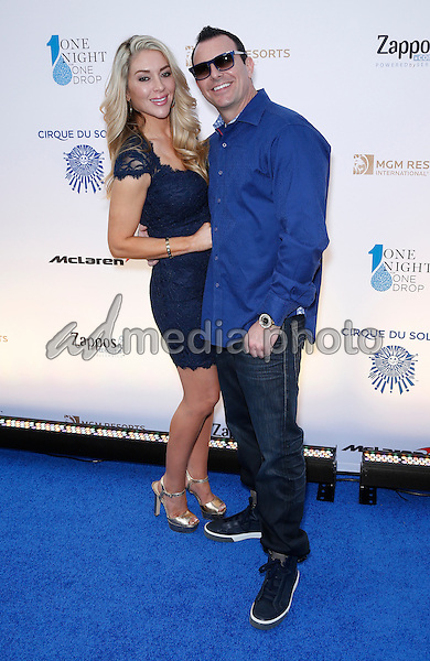 18 March 2016 - Las Vegas, Nevada - Kelly Tuttle, Steve Stevens. Cirque Du Soleil presents star-studded blue carpet at Fourth Annual One Night for ONE DROP at the Cleveland Clinic Lou Ruvo Center for Brain Health. Photo Credit: MJT/AdMedia