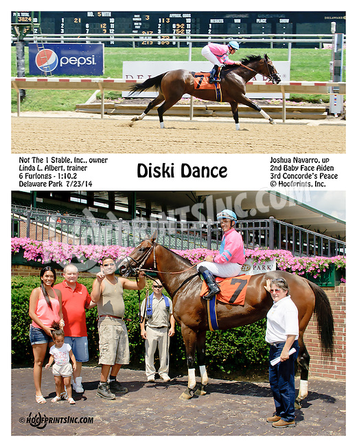 Diski Dance winning at Delaware Park on 7/23/14