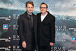 "Federico Jusid and Alberto Iglesias attend the Premiere of the movie ""EXODUS: GODS AND KINGS"" at callao Cinema in Madrid, Spain. December 4, 2014. (ALTERPHOTOS/Carlos Dafonte)"