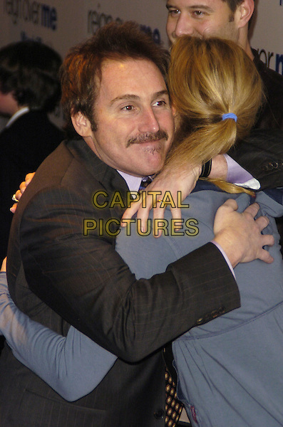 "MIKE BINDER & JOAN ALLEN.Premiere of Sony Pictures ""Reign Over Me"" Skirball Center at NYU, 566 La Guardia Place, New York, New York, USA..March 20th, 2007.half length hug embrace mustache facial hair .CAP/ADM/BL.©Bill Lyons/AdMedia/Capital Pictures *** Local Caption ***"