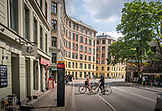 DENMARK, Copenhagen, Bikers cross the street, Europe