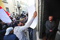 CORTEO IN DIFESA DEI MIGRANTI NELLA FOTO CORTEO CRONACA BRESCIA 28/03/2015 FOTO MATTEO BIATTA