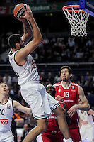 Real Madrid´s Ioannis Bourousis during 2014-15 Euroleague match between Real Madrid and Crvena Zvezda Telekom Belgrade at Palacio de los Deportes stadium in Madrid, Spain. February 26, 2015. (ALTERPHOTOS/Luis Fernandez) /NORTEphoto.com