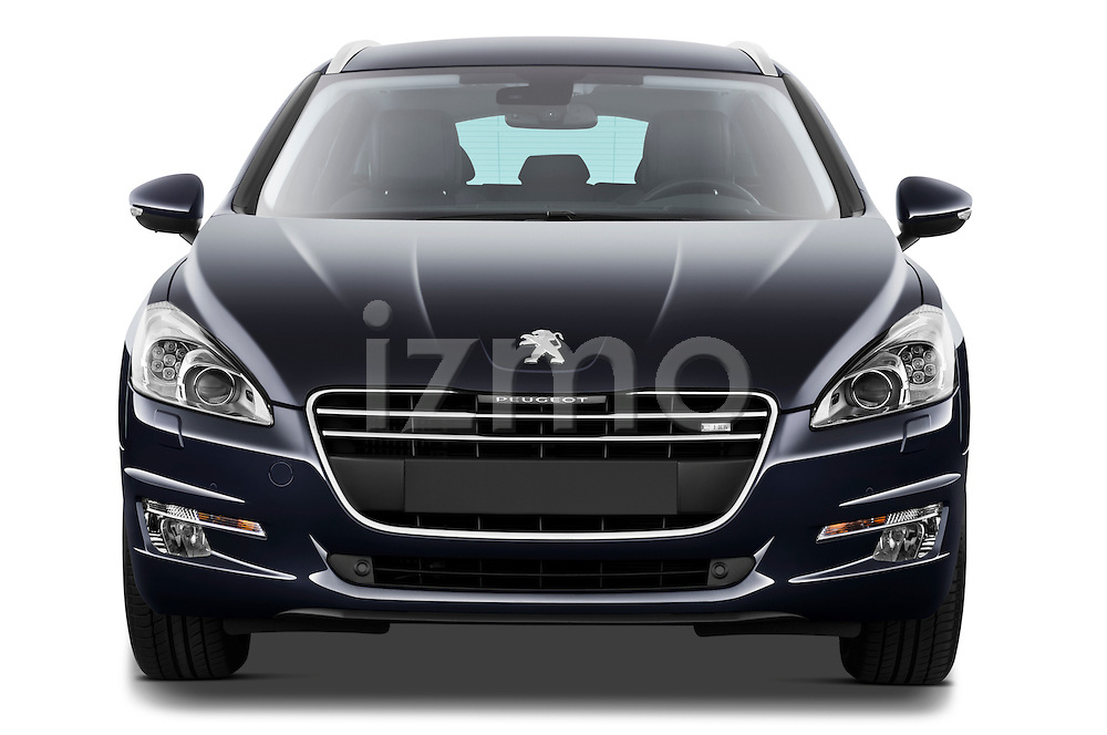 Straight front view of 2012 Peugeot 508 SW Allure Wagon Stock Photo