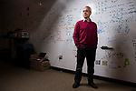 "Machine learning and artificial intelligence expert Pedro Domingos, photographed at the University of Washington in Seattle Tuesday March 27, 2018. Domingo wrote about the rise of artificial intelligence in his 2015 book ""The Master Algorithm: How the Quest for the Ultimate Learning Machine Will Remake Our World."" Photo by Daniel Berman for Der Spiegel"