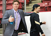 Zach Walker (BC - 14) - The Harvard University Crimson defeated the visiting Boston College Eagles 5-2 on Friday, November 18, 2016, at the Bright-Landry Hockey Center in Boston, Massachusetts.