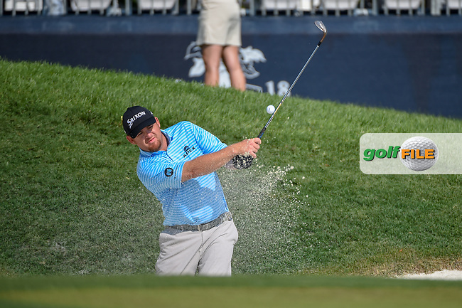 Paul Dunne (IRE) looks over his long putt on 9 during 2nd round of the 100th PGA Championship at Bellerive Country Club, St. Louis, Missouri. 8/11/2018.<br /> Picture: Golffile | Ken Murray<br /> <br /> All photo usage must carry mandatory copyright credit (© Golffile | Ken Murray)