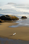 Surfer at Bandon Beach, OR