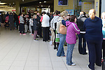 The queue to get One Direction tickets when they went on sale at CD World at the Drogheda Town Centre.