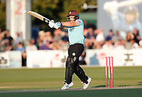 Aaron Finch hits out for Surrey during Kent Spitfires vs Surrey, Vitality Blast T20 Cricket at the St Lawrence Ground on 23rd August 2019