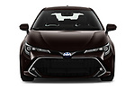 Car photography straight front view of a 2019 Toyota Corolla-Hybrid Premium 5 Door Hatchback Front View