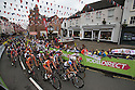 17/06/16 <br /> <br /> World Champion, Lizzie Armitstead leads the peloton out of Ashbourne, Derbyshire as the Aviva Women's Tour sets off for a 68.2 mile race across the Peak District to Chesterfield.<br /> <br /> All Rights Reserved F Stop Press Ltd +44 (0)1335 418365