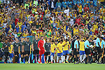 (L to R) <br /> Germany team group (GER), <br /> Brazil team group (BRA), <br /> AUGUST 20, 2016 - Football / Soccer : <br /> Men's Final <br /> between Brazil - Germany <br /> at Maracana <br /> during the Rio 2016 Olympic Games in Rio de Janeiro, Brazil. <br /> (Photo by YUTAKA/AFLO SPORT)